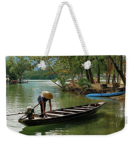 Tropical River  Weekender Tote Bag