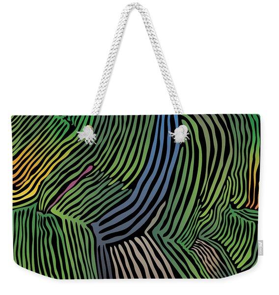 Tropical Striations Weekender Tote Bag