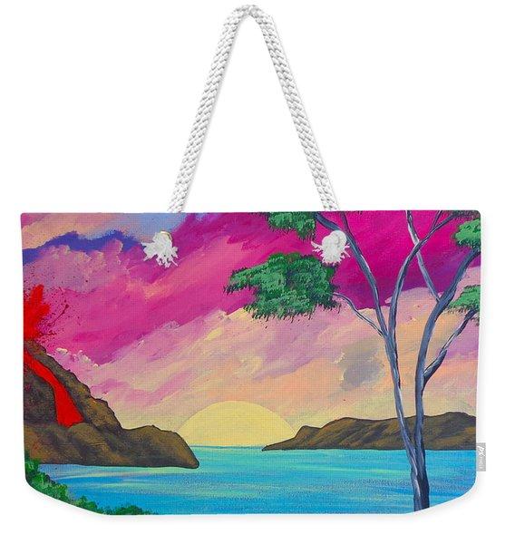Tropical Volcano Weekender Tote Bag