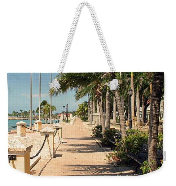 Tropical Walkway Weekender Tote Bag