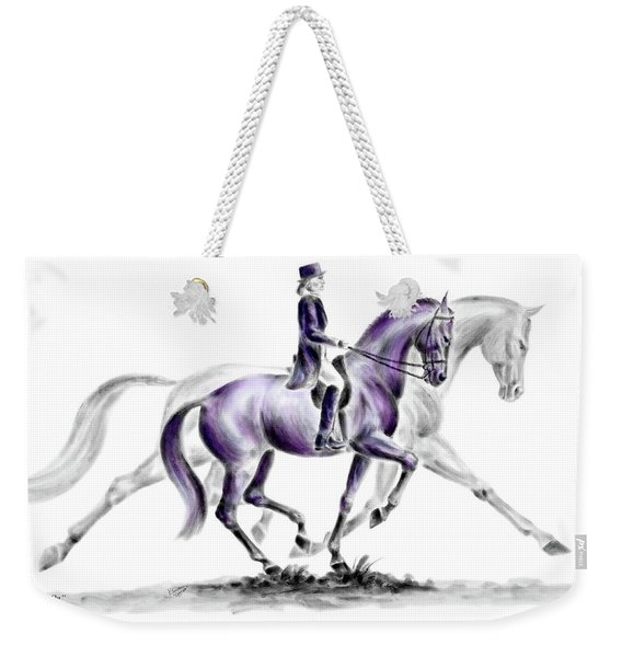 Trot On - Dressage Horse Print Color Tinted Weekender Tote Bag