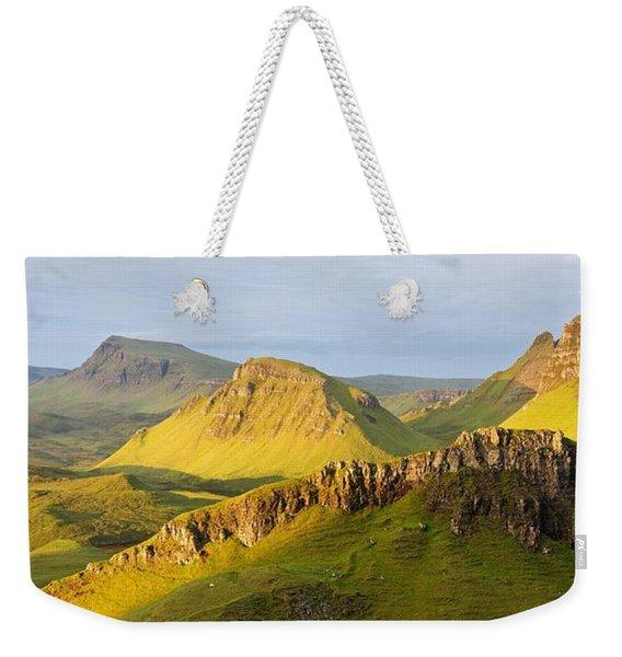 Trotternish Summer Morning Panorama Weekender Tote Bag