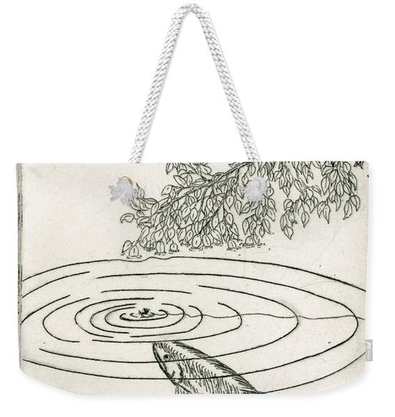 Trout Rising To Dry Fly Weekender Tote Bag