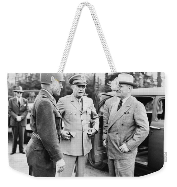 Truman Eisenhower And Hickey  Weekender Tote Bag