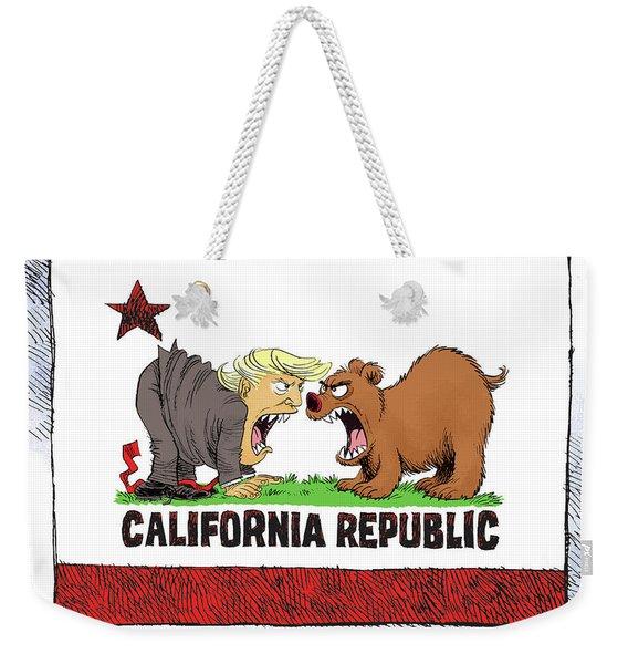 Trump And California Face Off Weekender Tote Bag