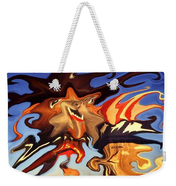 Donald Trump, The Bizarre American President - Modern Artwork Weekender Tote Bag