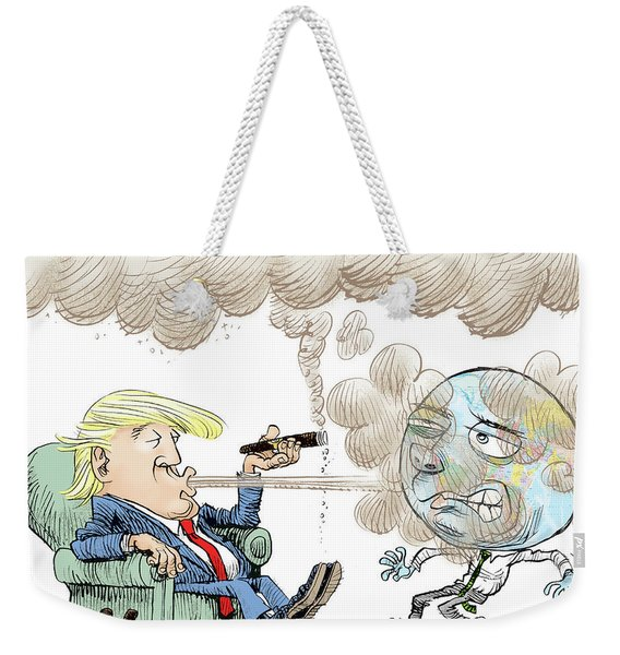 Trump And The World On Climate Weekender Tote Bag