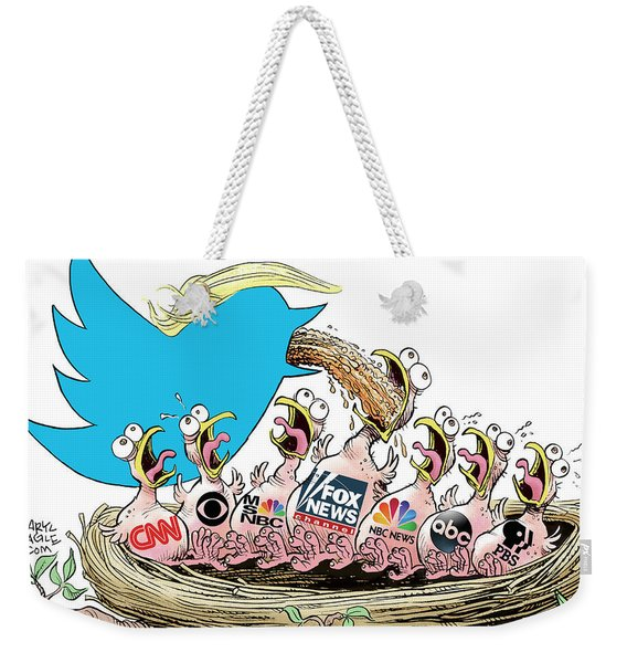 Trump Twitter And Tv News Weekender Tote Bag