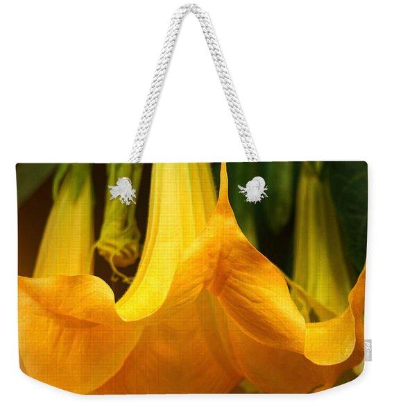 Trumpet Flower Afternoon Weekender Tote Bag
