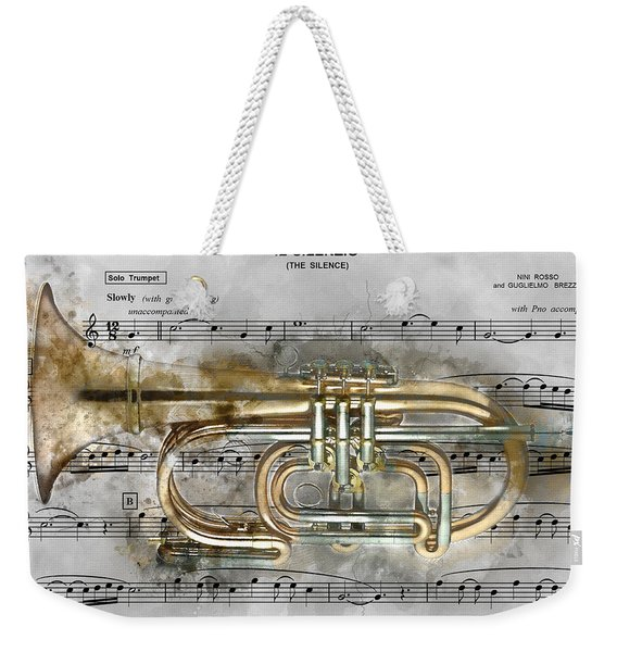 Trumpet Music Theme 2 - By Diana Van Weekender Tote Bag