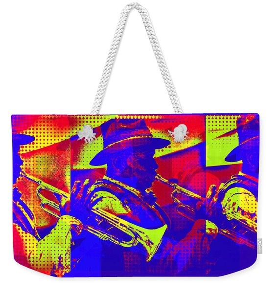 Trumpet Player Pop-art Weekender Tote Bag
