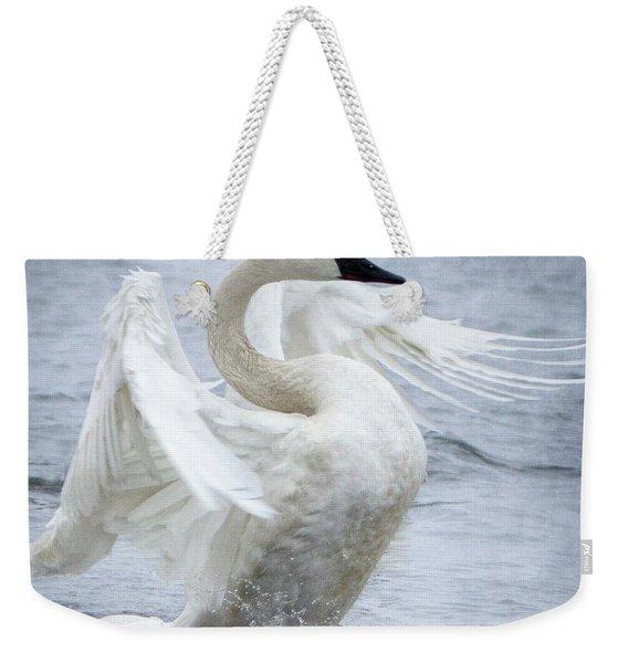 Trumpeter Swan - Misty Display 2 Weekender Tote Bag