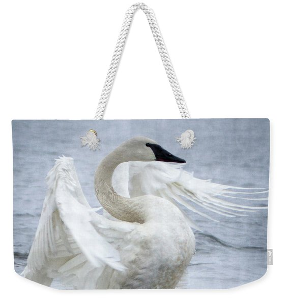 Trumpeter Swan - Misty Display 2 Weekender Tote Bag