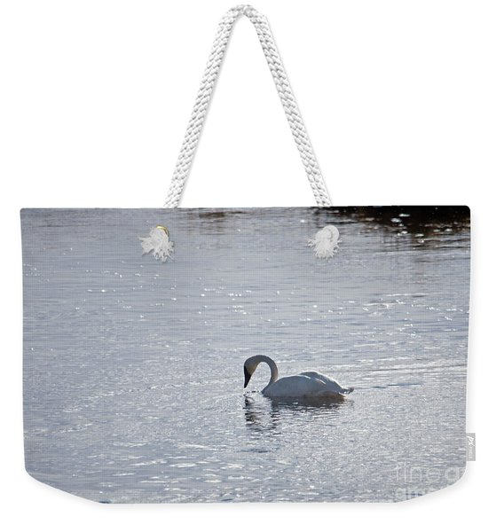 Trumpeter Swan Yellowstone Weekender Tote Bag