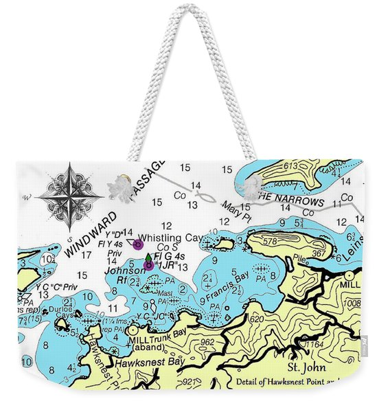 Trunk Bay, St. John Weekender Tote Bag