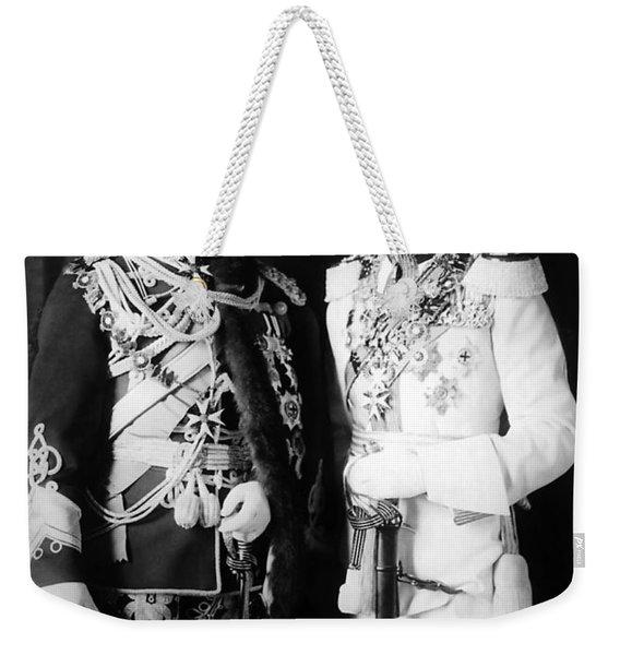 Tsar Nicholas II And King George V - Royal Cousins - 1913 Weekender Tote Bag
