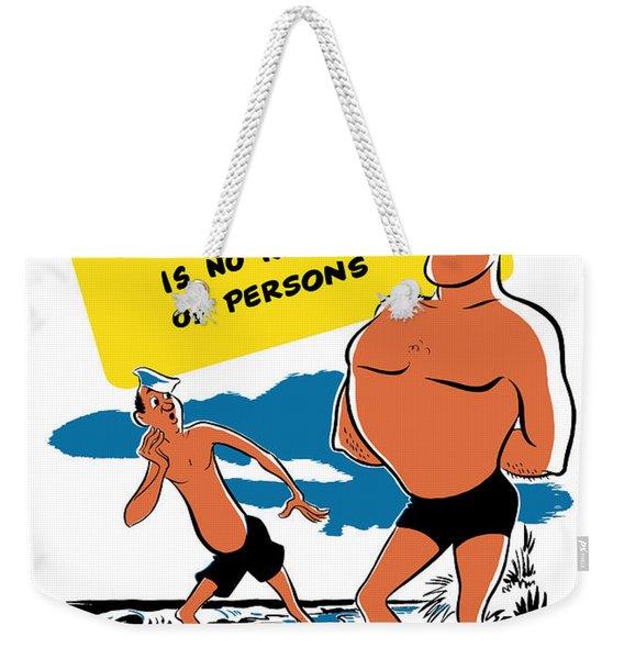 Tuberculosis Is No Respecter Of Persons  Weekender Tote Bag