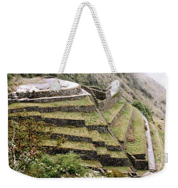 Tucked In A Mountain Weekender Tote Bag
