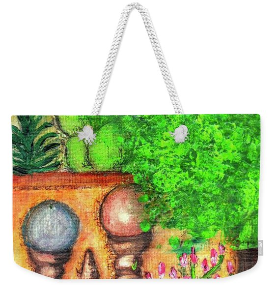 Weekender Tote Bag featuring the painting Tucson Garden by Kim Nelson