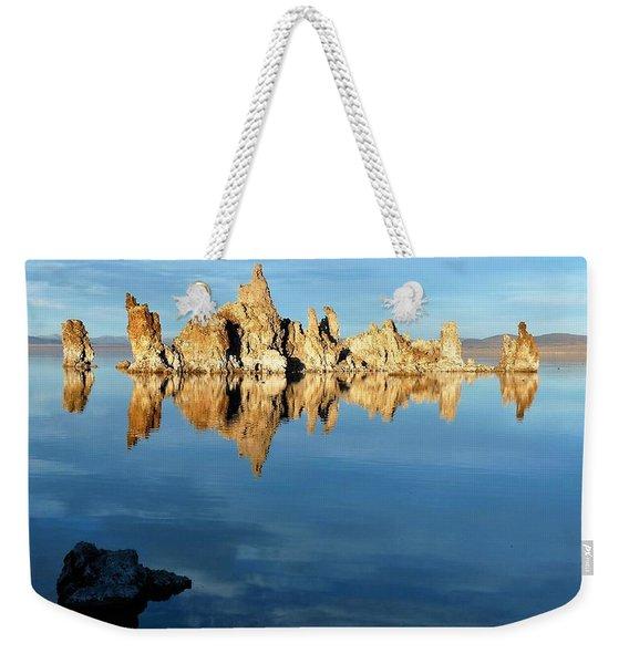 Tufa Reflection At Mono Lake Weekender Tote Bag