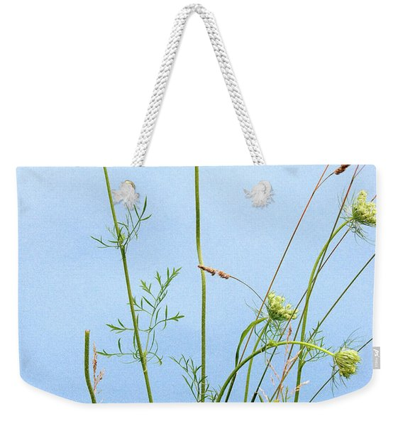 Tuft Of Queen Anne's Lace Weekender Tote Bag