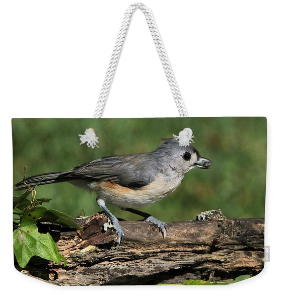 Tufted Titmouse On Tree Branch Weekender Tote Bag