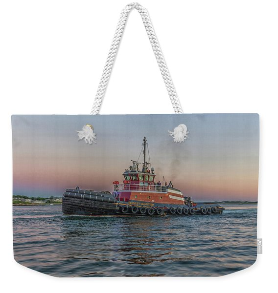 Tugboat Buckley Mcallister At Sunset Weekender Tote Bag