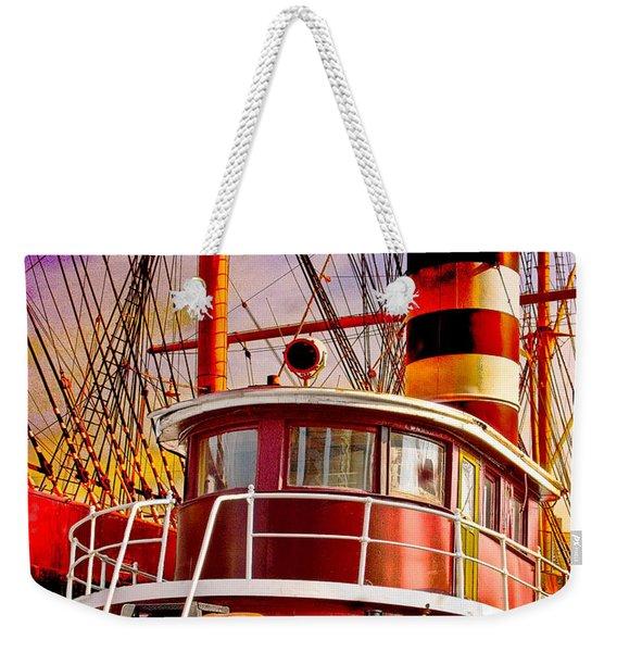 Tugboat Helen Mcallister Weekender Tote Bag