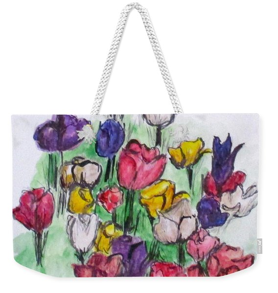 Tulip Bed Weekender Tote Bag