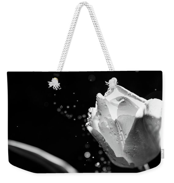 Tulip On A Rainy Day Weekender Tote Bag