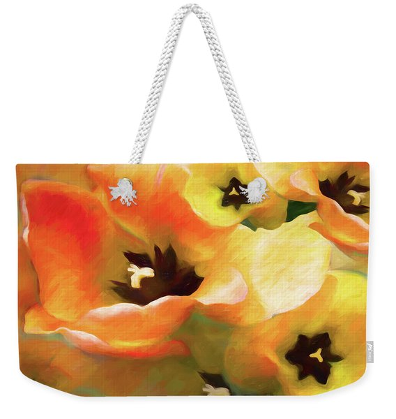 Tulip Sheen 3  Weekender Tote Bag