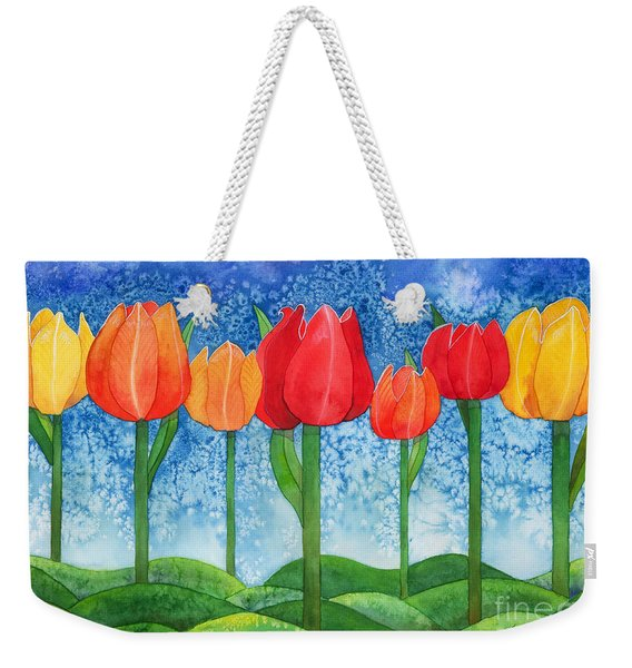 Tulip Trees Watercolor Weekender Tote Bag