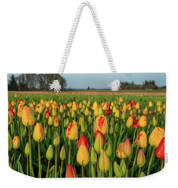 Tulips And Mount Hood Weekender Tote Bag