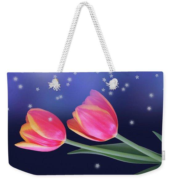 Tulips And Stars Weekender Tote Bag