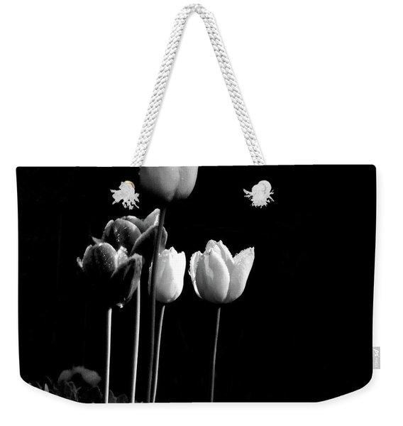 Tulips In Black Weekender Tote Bag