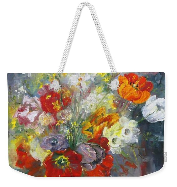 Tulips, Narcissus And Forsythia Weekender Tote Bag