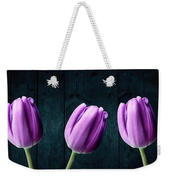 Tulips On Wood Weekender Tote Bag