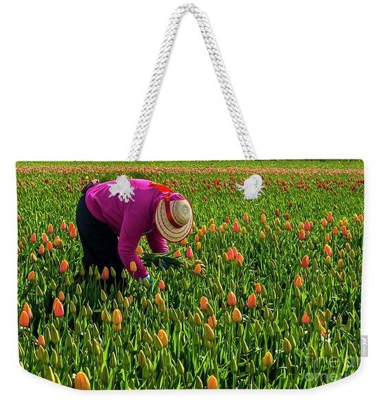Tulips Picker Weekender Tote Bag