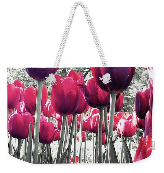 Tulips Tinted Weekender Tote Bag