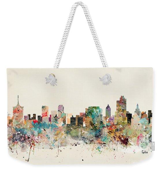 Tulsa Skyline Weekender Tote Bag