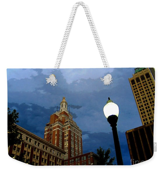 Tulsa Streetscape Weekender Tote Bag