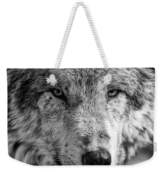 Tundra Wolf Weekender Tote Bag