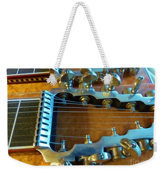 Tuning Pegs On Sho-bud Pedal Steel Guitar Weekender Tote Bag