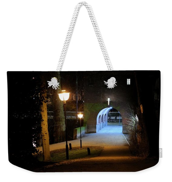 Tunnel At Ledig Erf In Utrecht At Night 294 Weekender Tote Bag