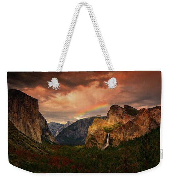 Tunnel View Rainbow Weekender Tote Bag