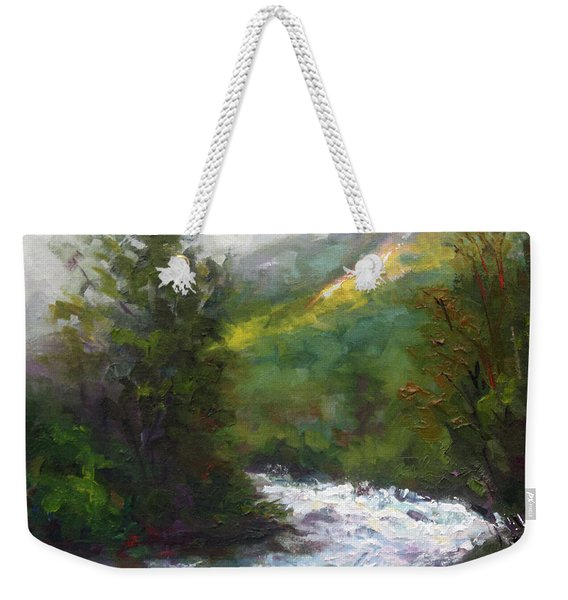 Weekender Tote Bag featuring the painting Turbulence by Talya Johnson