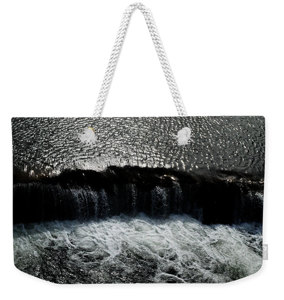Turbulent Water Weekender Tote Bag