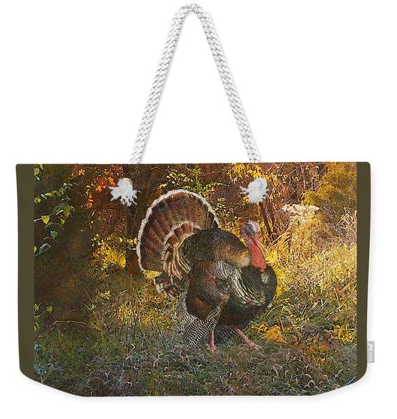 Turkey In The Woods Weekender Tote Bag