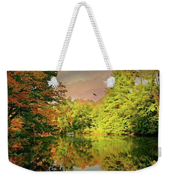 Turn Of River Weekender Tote Bag