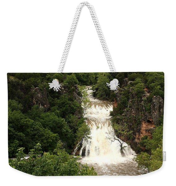 Turner Falls Waterfall Weekender Tote Bag